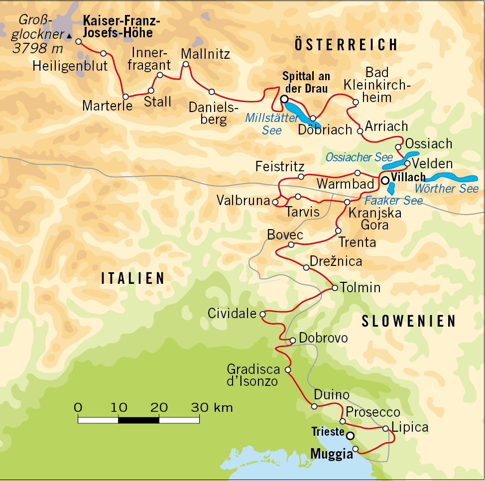 Alpe-Adria-Trail: LAW Van De Grossglockner Naar De Zee