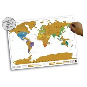 scratch map wereld