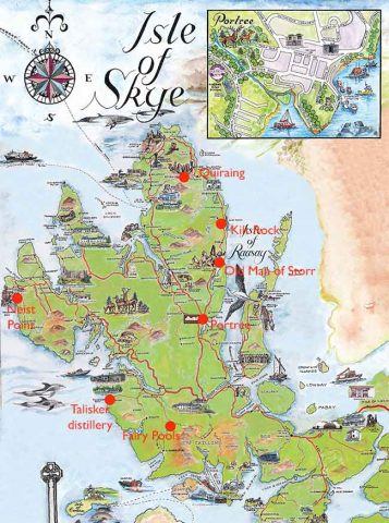 Isle of Skye map