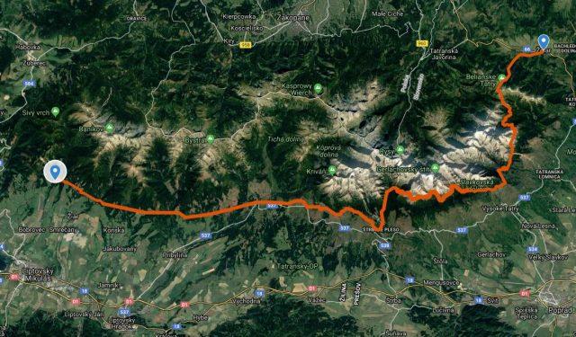 Route-Tatranska Magistrala