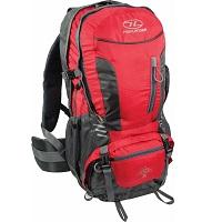 Highlander Backpack - Unisex - rood grijs