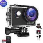 4. Gookam®️ - G02 Action Camera 4K