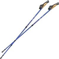 Tectake Nordic Walking stokken, verstelbaar, antishock blauw 401503